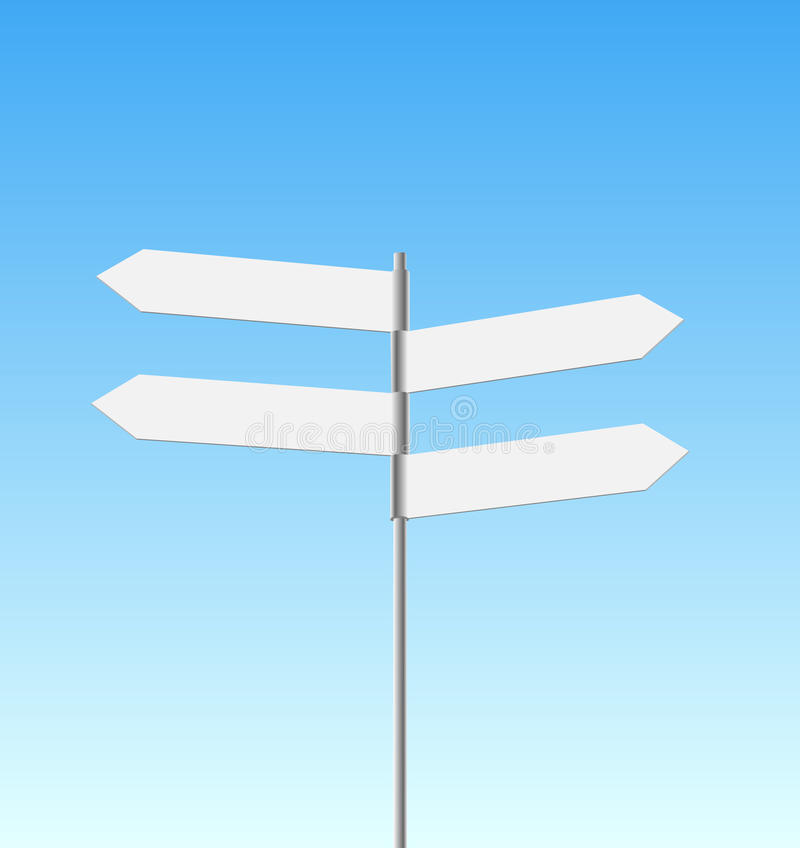 Four Signpost On Sky Background Stock Image