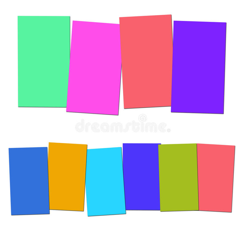 Four And Six Blank Paper Slips Show Copyspace For 4 Or 6 Letter. Four And Six Blank Paper Slips Showing Copyspace For 4 Or 6 Letter Words vector illustration