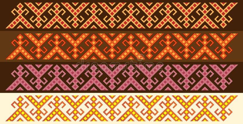 Four Slavic Friezes royalty free illustration
