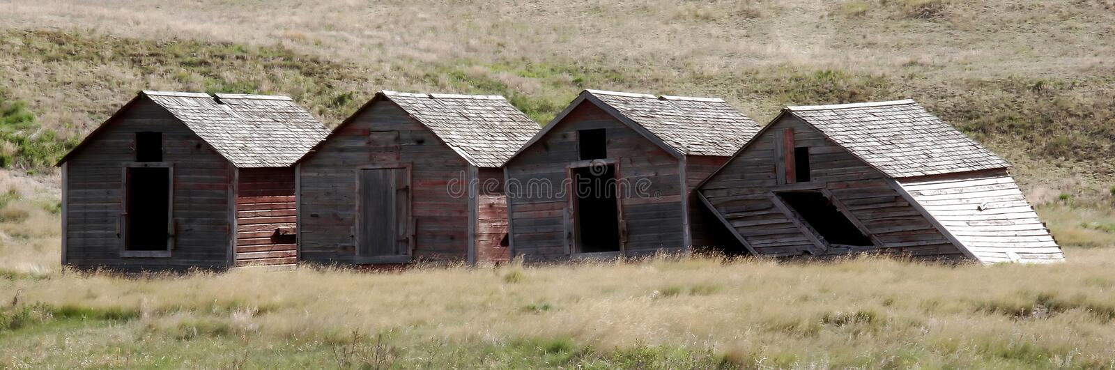 Four Small Buildings Stock Photo