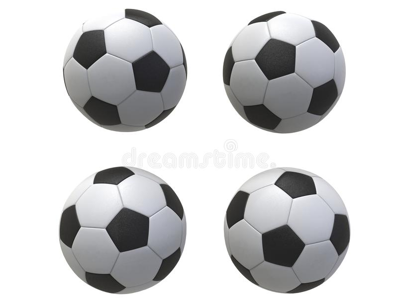 Download Four Soccer balls stock image. Image of match, goal, leisure - 73217441