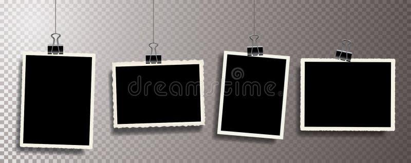 Photos hold metal clip vector illustration