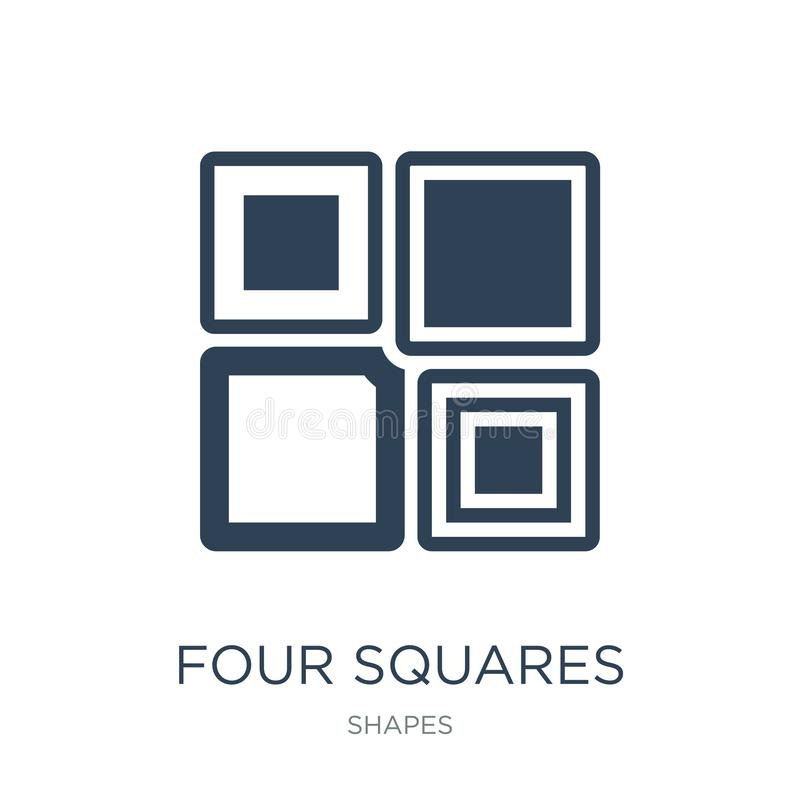 Four squares icon in trendy design style. four squares icon isolated on white background. four squares vector icon simple and. Modern flat symbol for web site vector illustration