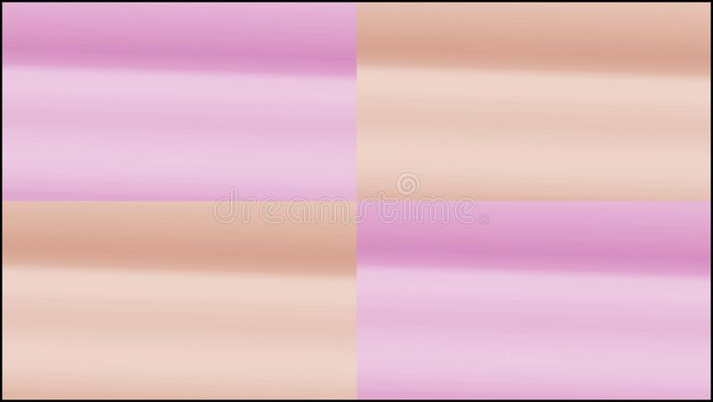 Four squares, pink and orange gradient background. Abstract squares. orange and pink gradient background in pastel colors royalty free stock photography