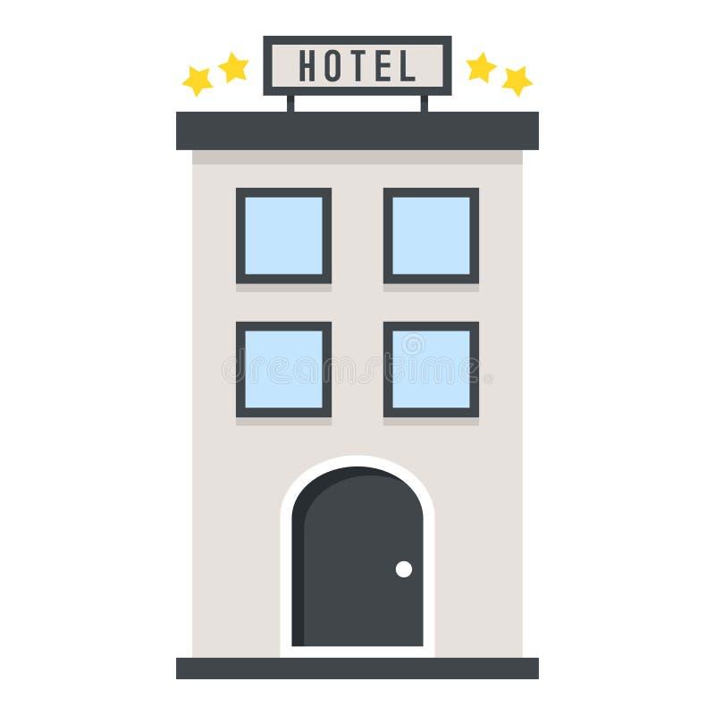 Four Stars Hotel Flat Icon Isolated on White stock illustration