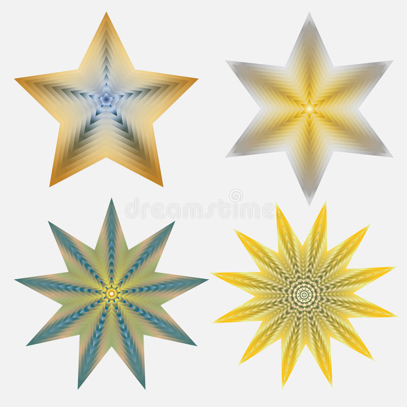 Four Stars stock illustration