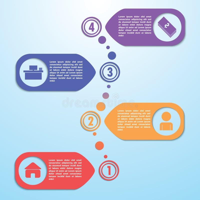 Four steps design template, Infographic background stock illustration