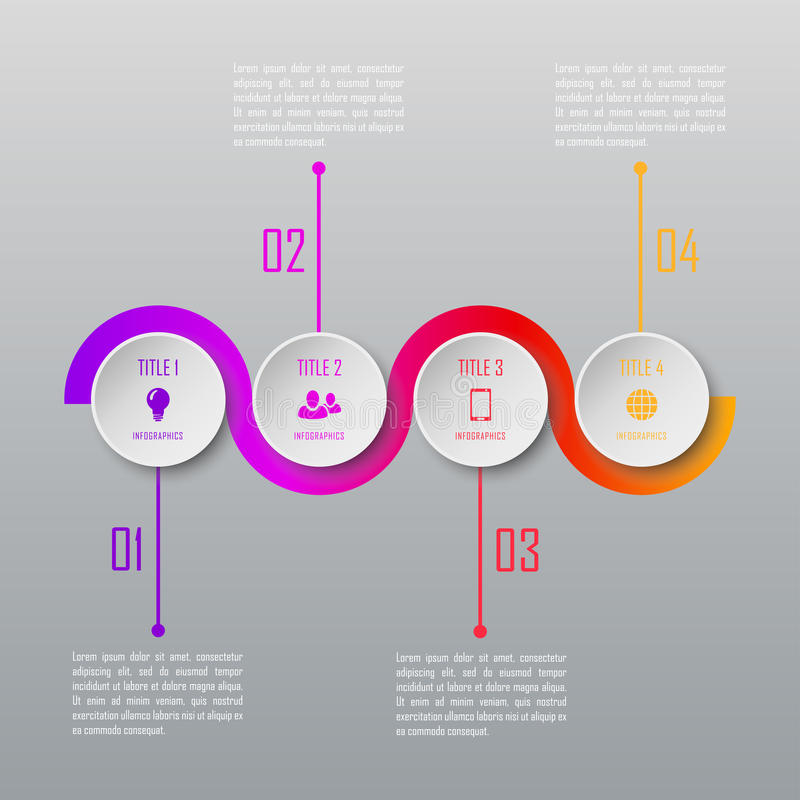 Four steps infographics. Infographic template stock illustration