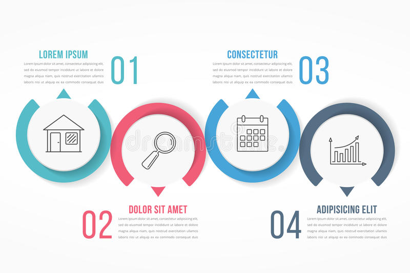 Four Steps Infographics vector illustration