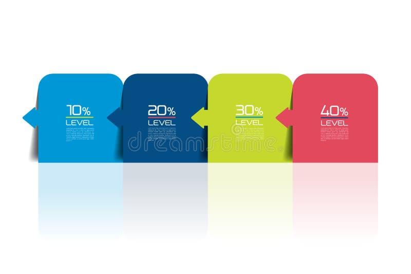 Four steps infographics report, template, chart, scheme. stock illustration