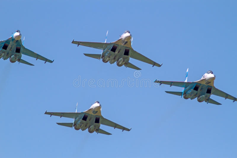 Download Four Su-27 Front View Editorial Image - Image: 41907780