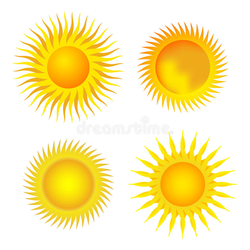 Download Four Suns Collection stock vector. Illustration of sunlight - 21143716