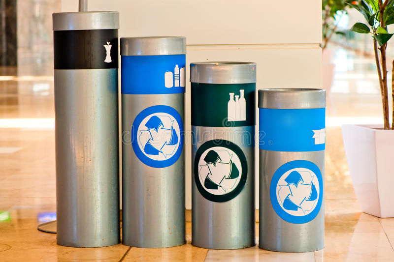 Download Four Tanks For Waste Sorting And Subsequent Processing Stock Image - Image: 32911227