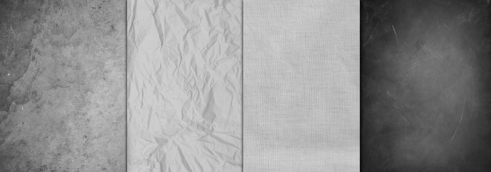 Four textures background stock image