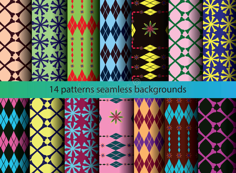 Download Four Tine  Patterns Backgrounds Stock Illustration - Illustration: 45575802