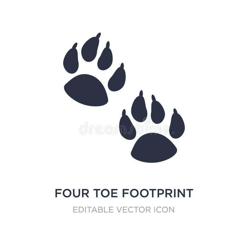 four toe footprint icon on white background. Simple element illustration from Nature concept royalty free illustration