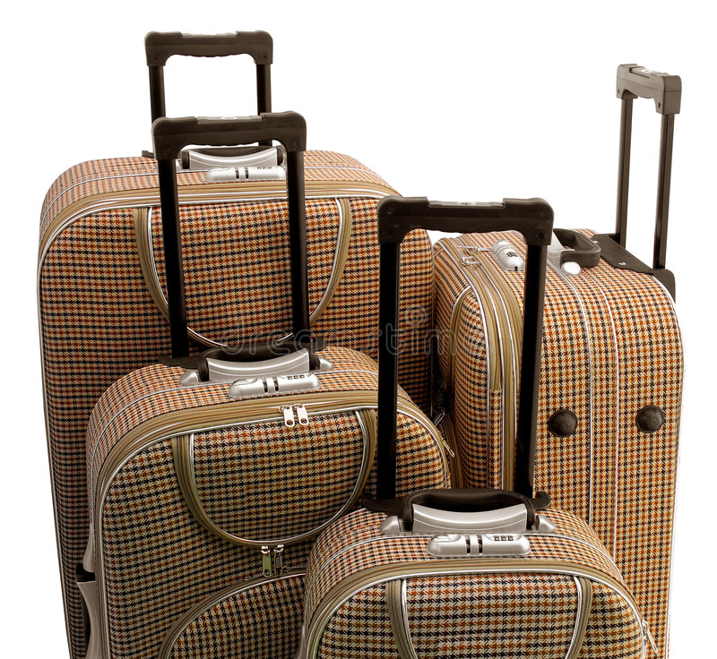 Download Four - travel suitcases stock photo. Image of briefcase - 3934626