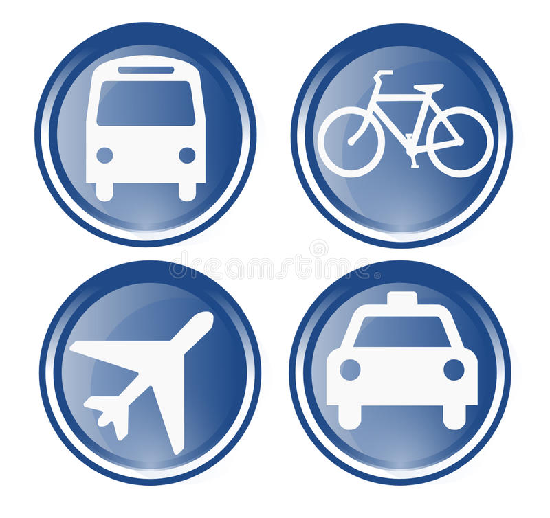 Download Four Travel And Transportation Icons Stock Image - Image: 12786661