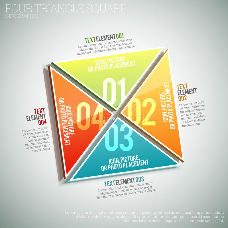 Four Triangle Square Infographic stock illustration
