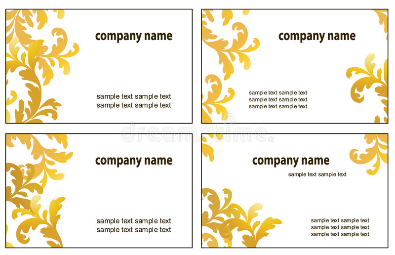 Four Variants Of Visit Cards Stock Photos
