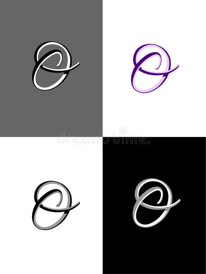 Download Four Variations Of A Fancy O Logo Vector Stock Illustration