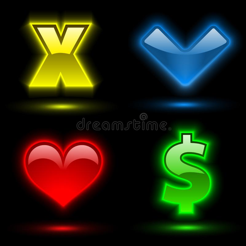 Download Four Various Colorful Signs 2 Stock Illustration - Illustration: 8486114