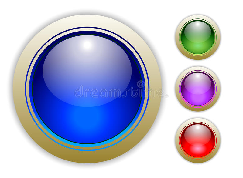 Four Vector Button Illustrations stock image