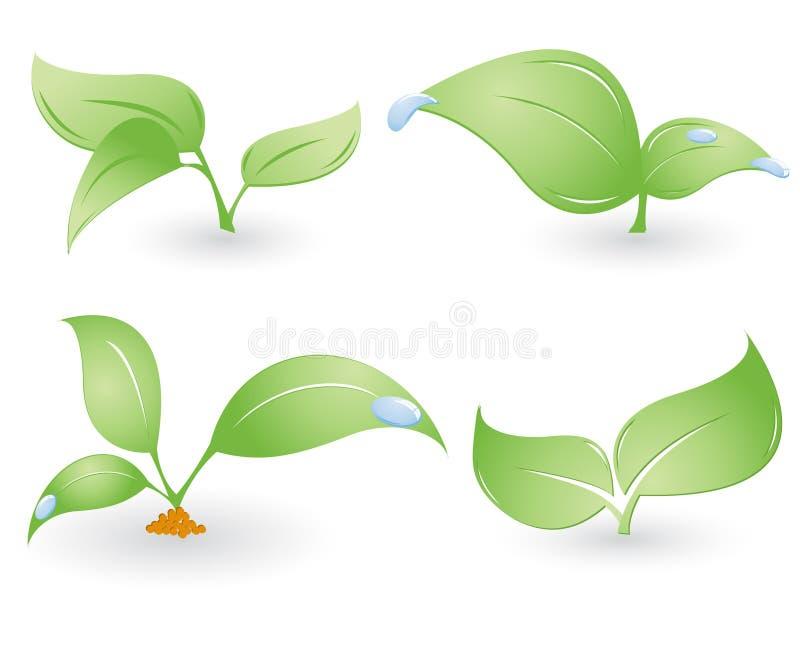 Four vector environmental sings stock illustration