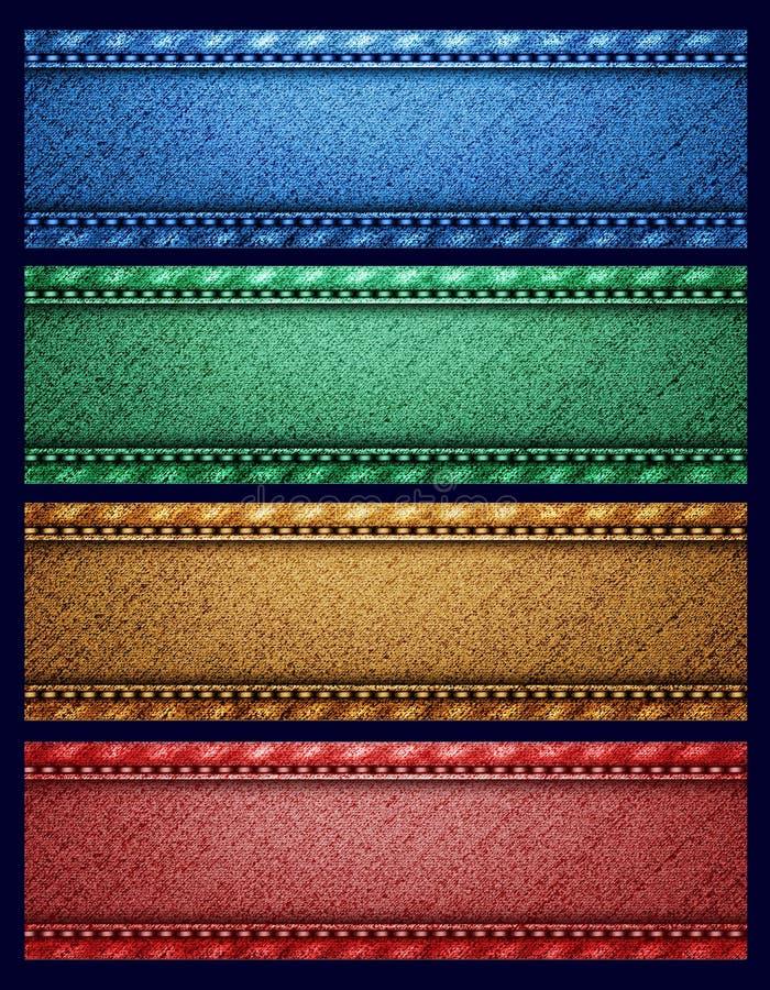 Four vector ribbons royalty free stock photos