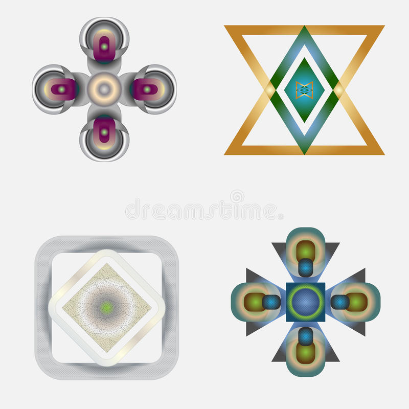 Download Four Vector Shapes Stock Image - Image: 27786481