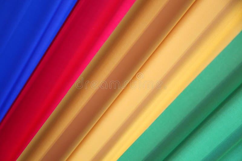 Four vibrant diagonal colors as background stock photo