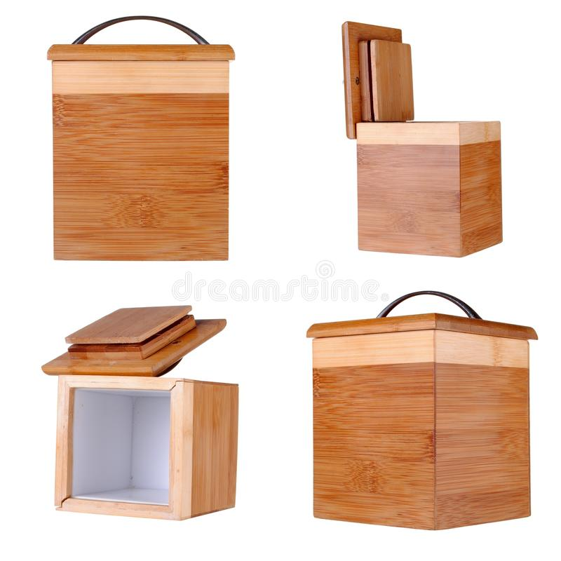 Free Four Views Of A Small Bamboo Box Stock Photography - 27779752