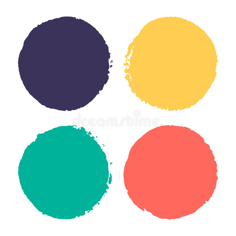 Four watercolor dots. royalty free illustration