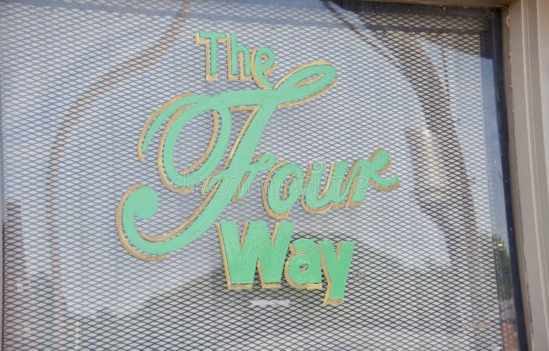 Four Way Grill Restaurant, Memphis, TN stock photos
