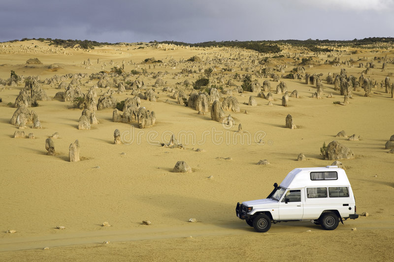 Download Four Wheel Drive In Dessert Stock Image - Image: 3542311