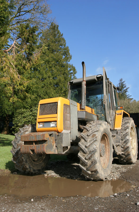 Download Four Wheel Drive Tractor stock photo. Image of tires, machinery - 7696634