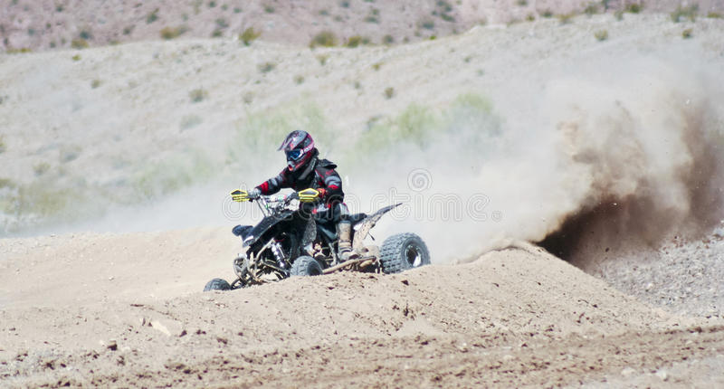 A Four Wheeler Racer Practices at SARA Park royalty free stock photo