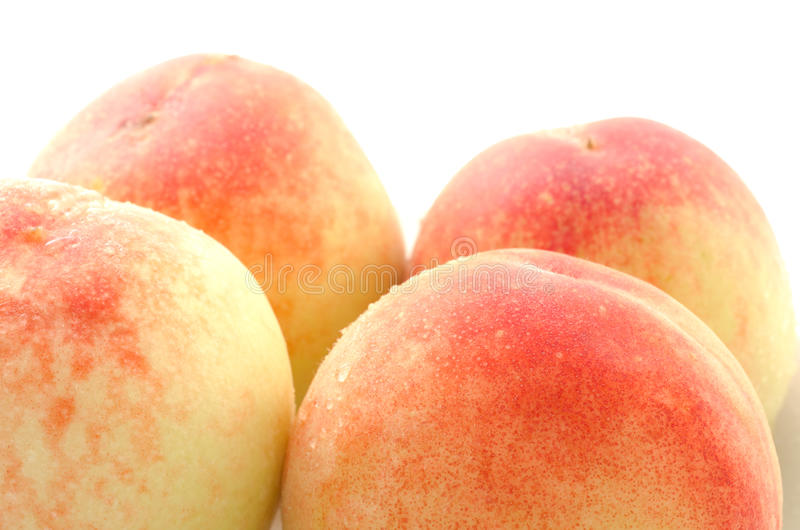 Download Four whole peaches stock image. Image of juicy, food - 26395229
