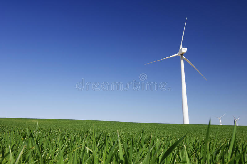 Download Four windmills stock photo. Image of industrial, clear - 26910242