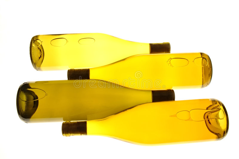 Four Wine Bottles stock photography