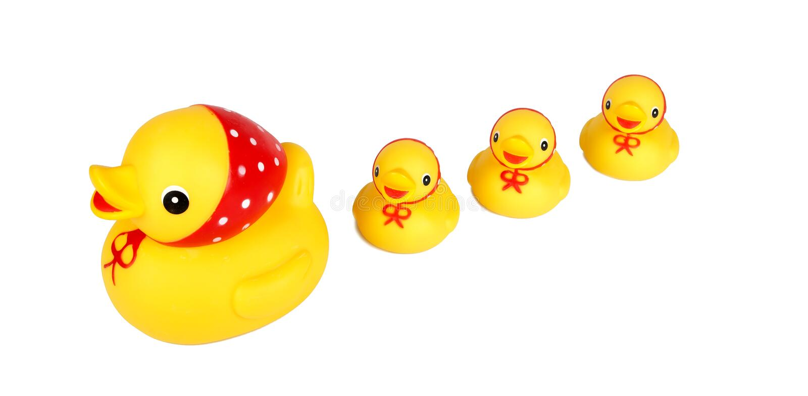 Download Four Yellow Ducks Isolation Stock Image - Image: 28184889