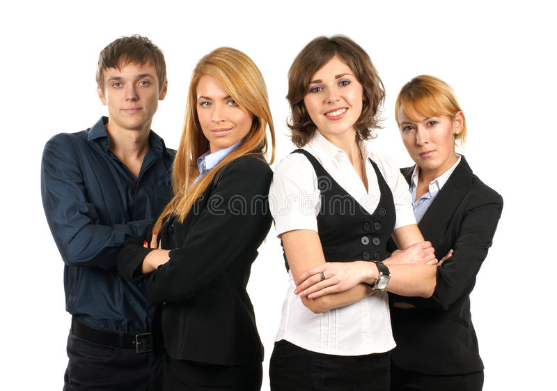 Four Young Businessperson In Formal Clothes Stock Image