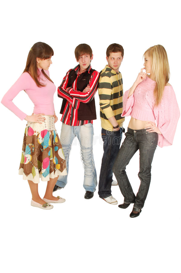 Free Four Young People Spend Time Together Stock Photo - 5395530