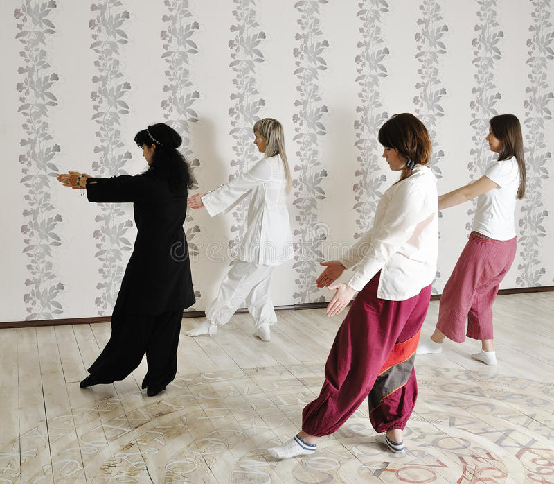 Download Four Young Women Practice Yoga Stock Image - Image: 37647461