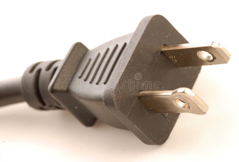 fourche électrique deux de fiche photographie stock libre de droits