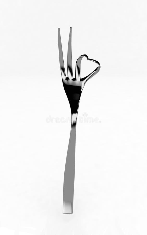 fourchette 3d (en bon état) illustration de vecteur
