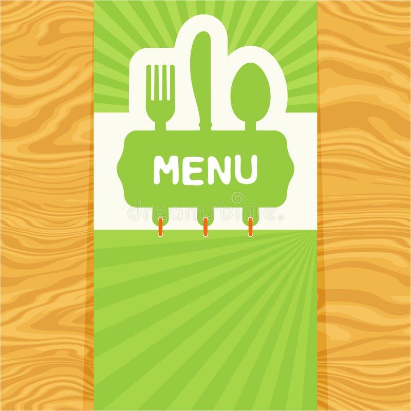 Fourchette, cuillère et couteau, étiquette pour le texte Conception plate illustration libre de droits