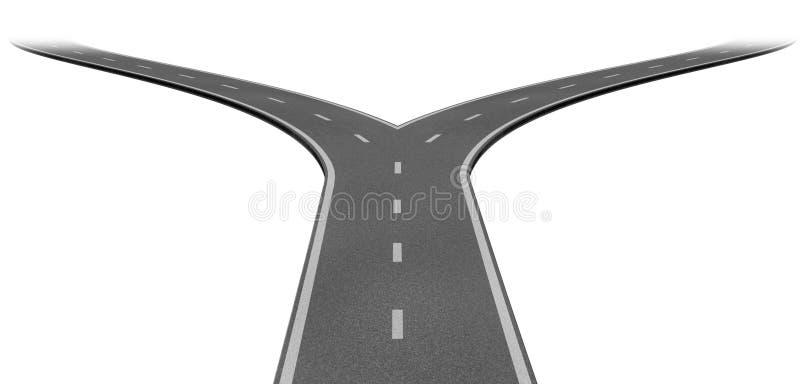 Fourchette dans la route illustration libre de droits