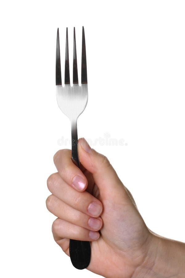 Fourchette dans les mains photo libre de droits