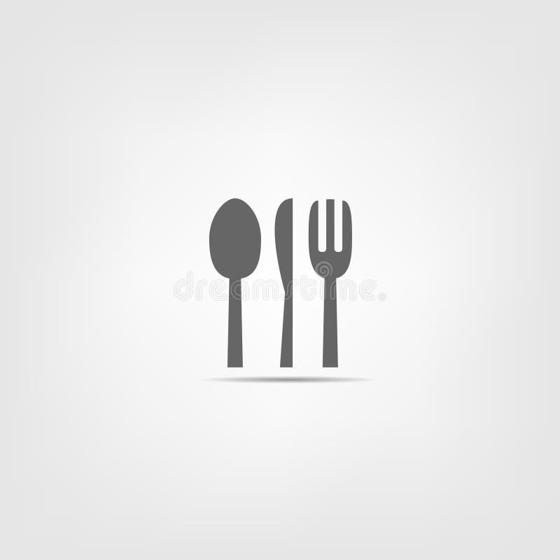 Fourchette de couteau de cuillère illustration stock